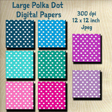 Printable Digital Paper Design Pack- Instant Download-12 x 12 inch 300 dpi JPEG files