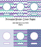 Printable Binder Cover Pack-6 different Binder Covers -Instant Download- Printable PDF**Not Editable**