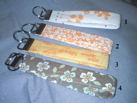 Floral Collection 2 Fabric  Key Fob's