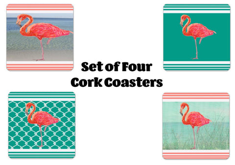 Flamingo Coastal Collection Coaster Set