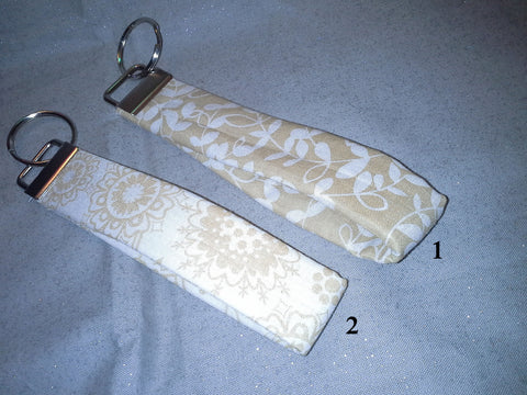 Cream Collection  Fabric  Key Fob's