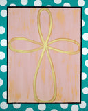 Infinity Cross with Polka Dot Framing Fine Art Print- Various Sizes