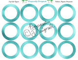 Blank Foil Printable  Cupcake Toppers - Printable Party Favors