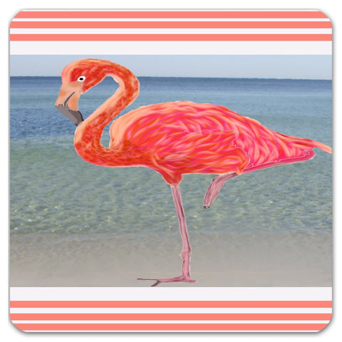 Flamingo  Coastal Collection Cork Coasters