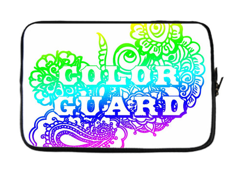 Color Guard Doodle Laptop Sleeve