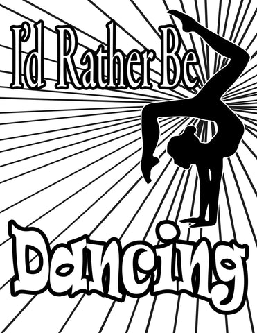 Dance Coloring Pages – Purposely Designed