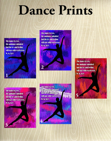 Dancer Print with Abstract Background- Available in several sizes