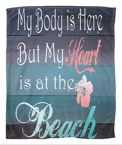 Coastal Style Fleece Blanket