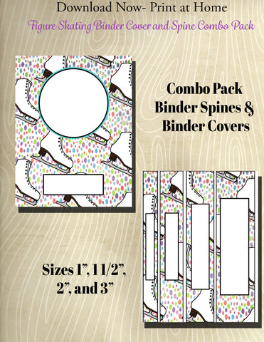 Figure Skating Binder and Spine Collection- Skating Patterns**Not Editable**
