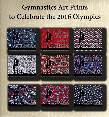 Live Your Dream -Gymnastics Poster- Olympic Edition