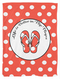 Life is Better in Flip Flops Fleece Blanket