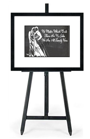 No Matter Which Bride Silhouette-In White - Wedding Seating Sign Instant Download-Choose a Seat not a Side Sign Template, Printable Choose a Seat Sign