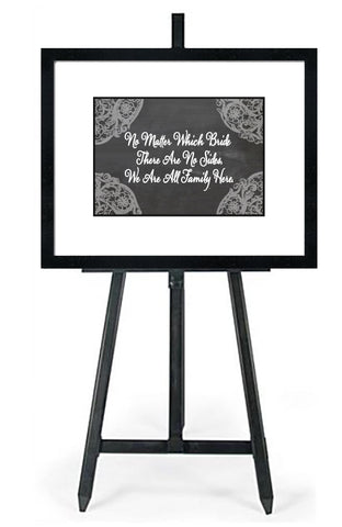 No Matter Which Bride-In White - Wedding Seating Sign Instant Download-Choose a Seat not a Side Sign Template, Printable Choose a Seat Sign