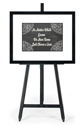 No Matter Which Groom-In White - Wedding Seating Sign Instant Download-Choose a Seat not a Side Sign Template, Printable Choose a Seat Sign