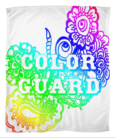 Color Guard Doodle Fleece Blanket