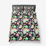Pastel Love, Rainbows and Hearts Design - Microfiber Duvet Cover