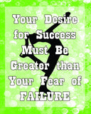 Success or Failure -Your Choice of Colors- Figure Skating Poster