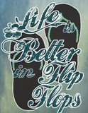 Life is Better In Flip Flops-Digital Painting-Choose Style and Size
