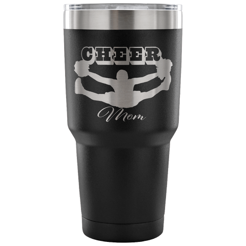 Cheer Mom-Etched Tumbler -30 ounces- Choose From a Variety of 7 Colors