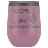 Improbable Doesn't Mean Impossible Pairs/Dance Figure Skating Stemless Wine Tumbler