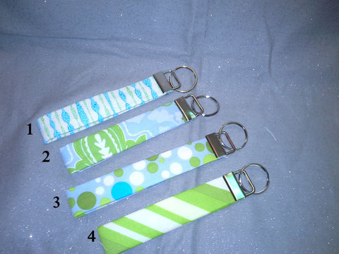 Lime and Turquoise  Collection  Fabric  Key Fob's