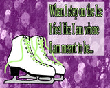 Meant To Be- Figure Skating Poster- Print can be personalized- Choose your size