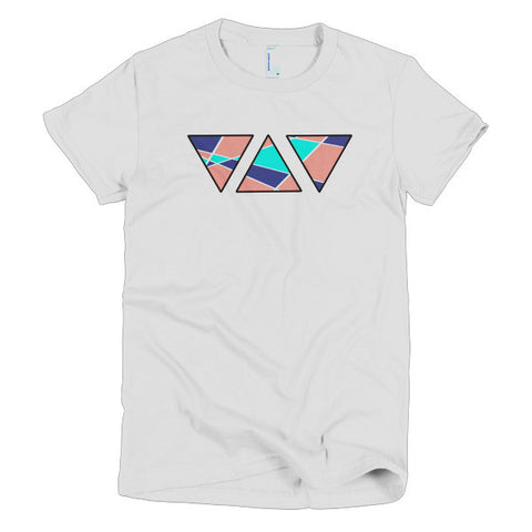 Abstract Triangles Women's Short Sleeve Tee Shirt