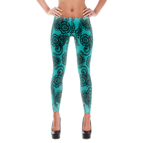 Paisley Pattern Women's Leggings
