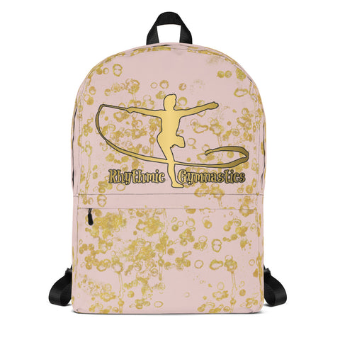 Rhythmic Gymnastics Backpack in Pink and Gold