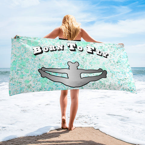 Cheer-Born to Fly Beach Towel