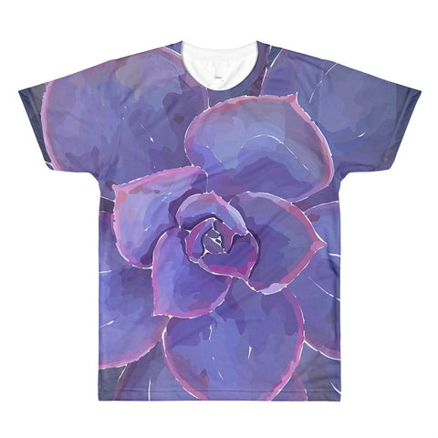 Moody Blues Succulent -by Hxlxynxchxle - Unisex All-Over Printed T-Shirt