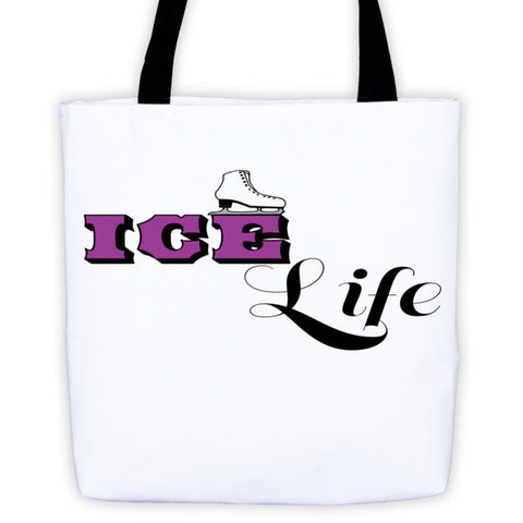 Figure Skater-Tote Bag with Ice Life Logo