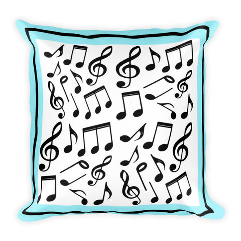 Music Notes Pillow