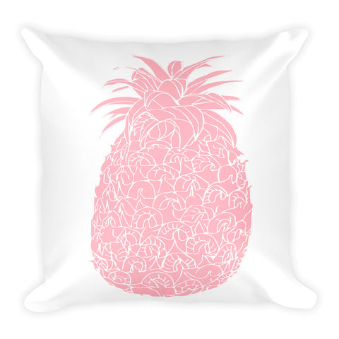 Millennial  Pink Pineapple Square Pillow