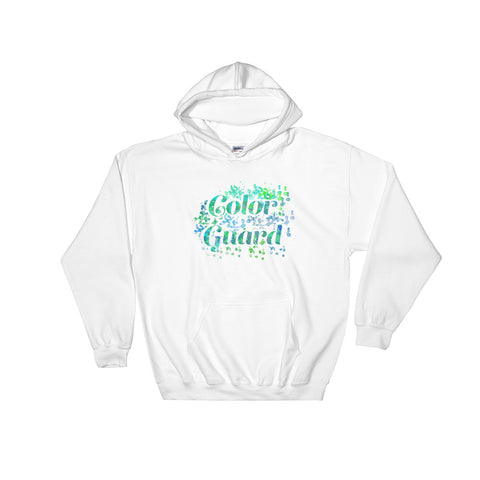 Color Guard Water Color Inspired Hooded Sweatshirt