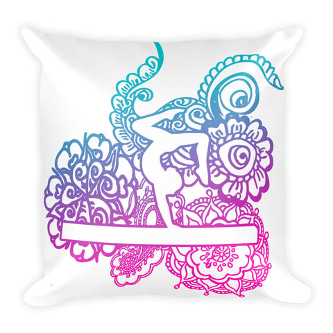 Gymnastics Beam Doodle Throw Pillows