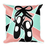 Abstract Ballet Shoes Pillow
