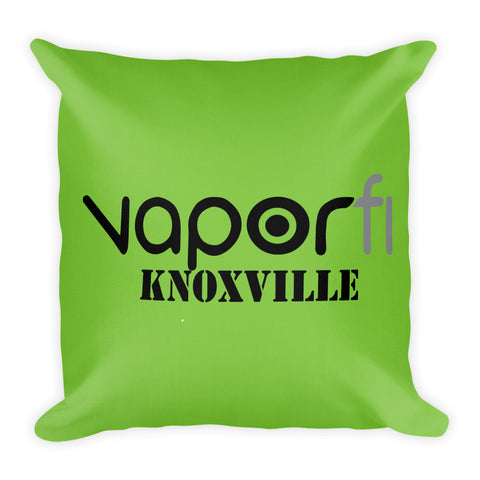Vapor Fi Knoxville- Green Premium Throw Pillow