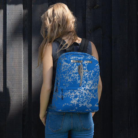 Cheer Life in Blue and Silver Backpack
