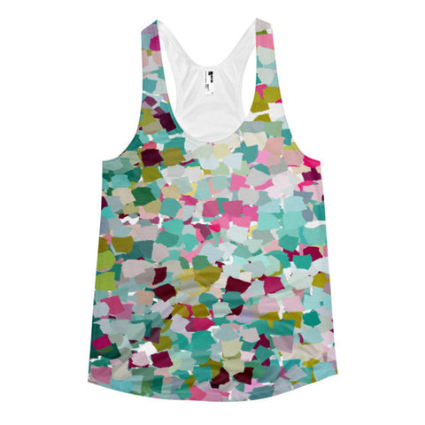 Multi-Colored Abstract Women's Racerback Tank