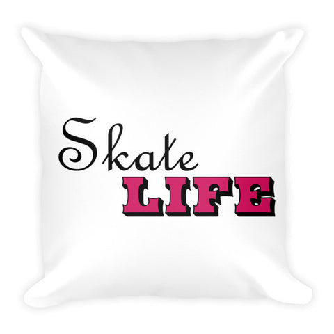 Large Decorative Pillow- Skate Life