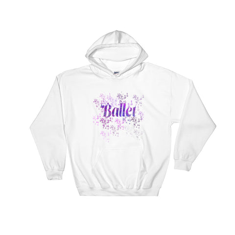 Ballet Water Color Inspired Hooded Sweatshirt