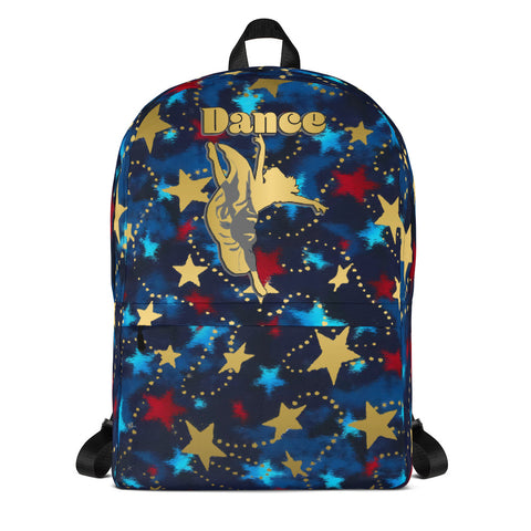 Dance Patriotic with Gold Stars -Backpack- Perfect for Teams can be Customized