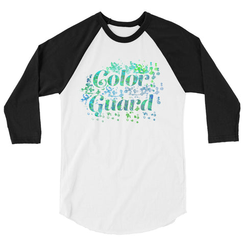Color Guard Water Color Inspired Silhouette 3/4 Sleeve  Shirt-Style 2