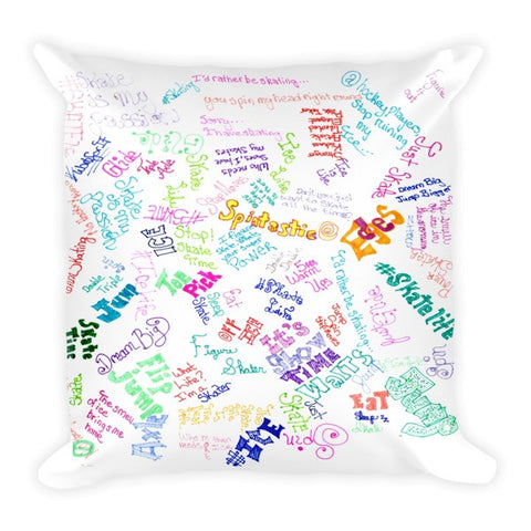 Skate Phrases- All Over Print Pillow