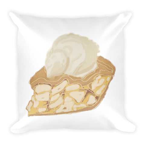Apple Pie Illustration Square Pillow