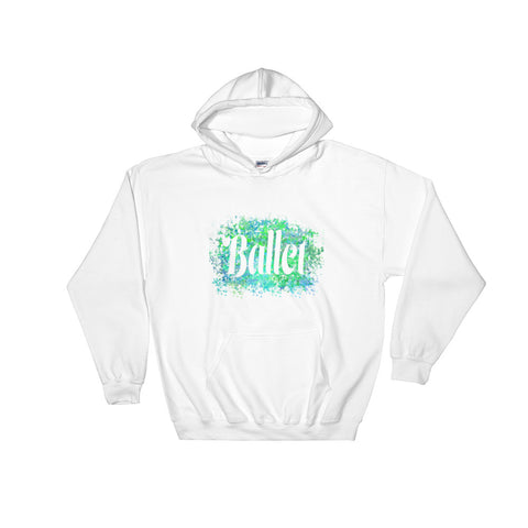 Ballet Dancer Water Color Inspired Hooded Sweatshirt