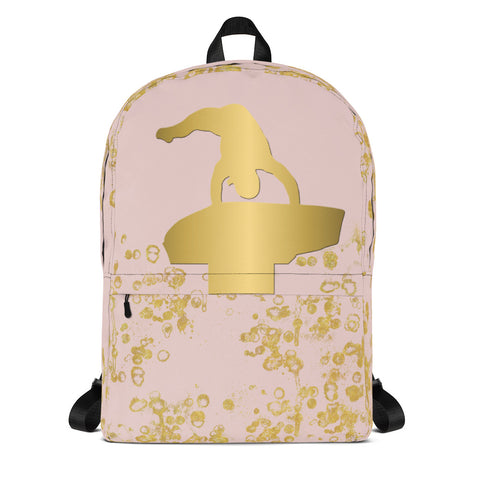 Gymnastics Vault Backpack in Pink and Gold Flakes
