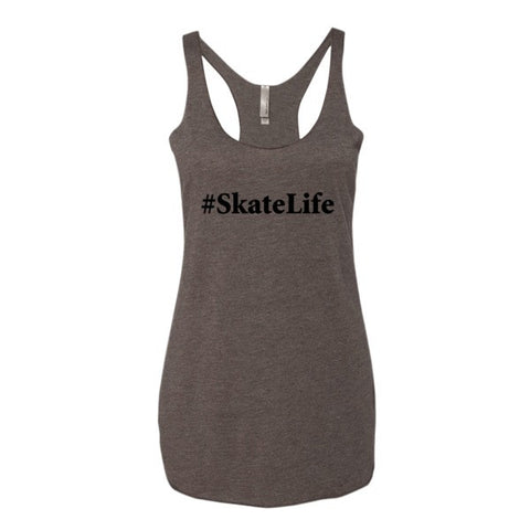 Next Level Women's Triblend Tank Top with Black Logo