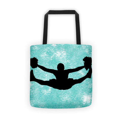 Cheerleading Silhouette Tote bag
